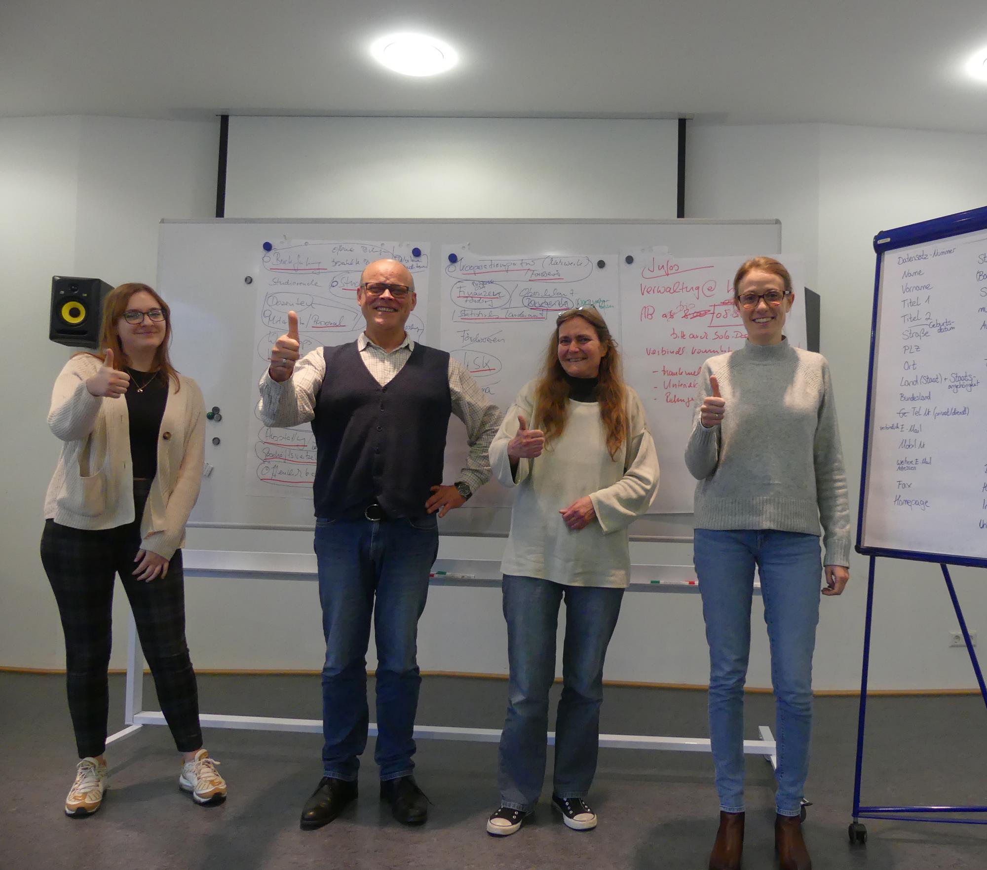 Produktiv Und Zielführend – So War Der Teamtag Der Verwaltung Des Hohner-Konservatoriums. V.l.n.r. Saskia Ruder, Bernhard Van Almsick, Michaela Hartmann, Claudia Boch